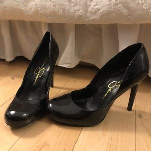 Black Patent Leather Jessica Simpson Heels